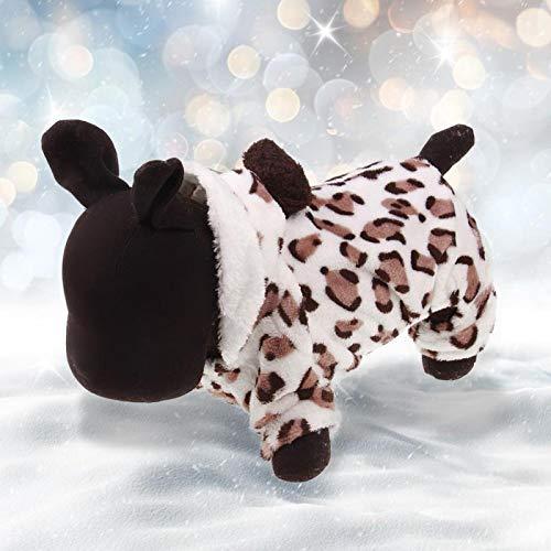 Ropa para Mascotas de 5 tamaños, Disfraz con Estampado de Leopardo para Mascotas, Ropa de Moda para Mascotas, para Uso navideño para Perros, Gatos en la estación fría(XXL)