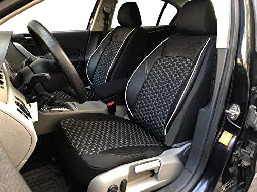 Sitzbezüge K-Maniac für VW Golf Sportsvan | Universal schwarz-Weiss | Autositzbezüge Set Vordersitze | Autozubehör Innenraum | Auto Zubehör | V1507141 | Kfz Tuning | Sitzbezug | Sitzschoner