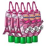 Sagrotan Hand-Desinfektionsgel Kamille & Lotus Paris Edition Desinfektionsmittel für die Hände in handlicher Reisegröße – 6 x 50 ml antibakterielles Gel mit praktischem Anhänger