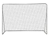 HBRE Porteria Futbol Desmontable,con Marco De Acero PorteríA De FúTbol De JardíN DiseñO Superestable Impermeable,Red De PorteríA para Patio Trasero, para Patio Al Aire Libre