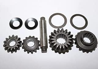Ochoos 1Set-Tricycle Motor Differential Speed Steel Gear Rear Axle Gear Set(14T+18T+Shaft+Gasket)