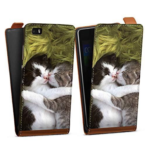DeinDesign Tasche kompatibel mit Huawei P8 lite (2015-2016) Flip Case Hülle Katzenbabys Cat Katze