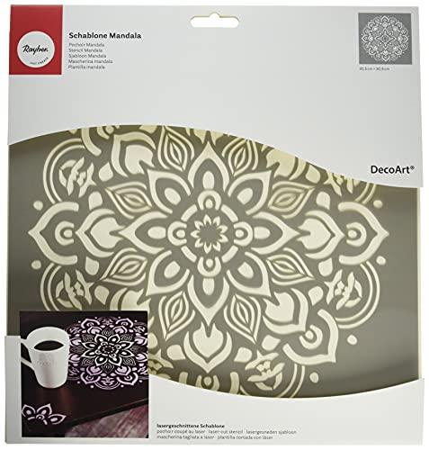 Rayher 38969000 Plantilla de Mandala. Reutilizable. Con corte láser. Medidas 30.5 x 30.5 cm.