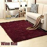Moquette Doux Shaggy Tapis for Le vin Rouge Salon européen Accueil Chaleureux en Peluche Carpettes Moelleux Chambre d'enfants en Fausse Fourrure Tapis 4cm d'épaisseur 160x230cm (Size : 200x300CM)