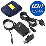 KSW KINGDO Surface 65W Charger Power Supply for Surface Pro X Pro 7 Pro 6 Pro 5 Pro 4 Pro 3 Surface Laptop 3 2 1 Surface Book Surface Go 2 1 with Travel Case