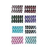 LINVINC Patch Ongle - 8 Feuilles Nails Autocollants Stickers Nail Art DIY Décoration Sticker de Vernis à Ongles