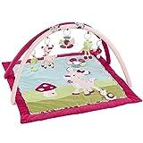 Fehn 076738 3-D-Activity-Decke Reh / Spielbogen mit 5 abnehmbaren Spielzeugen für Spiel & Spaß für Mädchen von Geburt an / Maße: 85x85cm