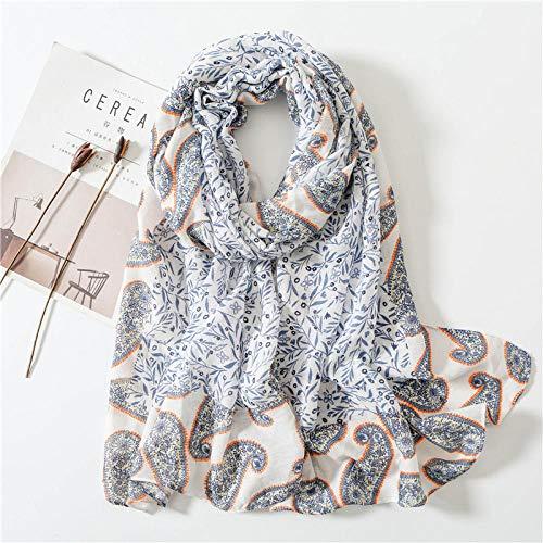Schal Damen Mode Kopftuch Baumwolle Leinen Schal Frauen Vielseitige Seidenschals Bedruckter Schal Soft