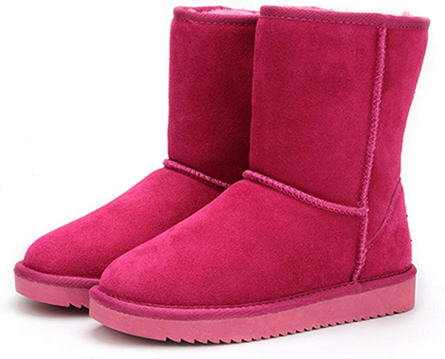 Hoxekle Snow Boots Fashion Girls Snow Boots for Women Warm Winter Boots Women Round Toe Flats shoes