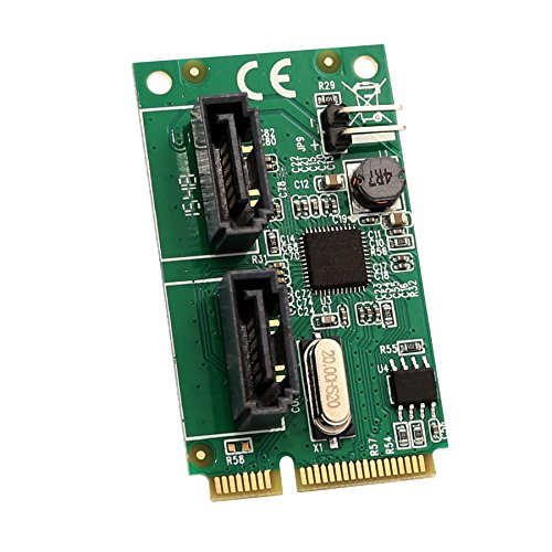 2 Port Mini PCIe to SATA III Controller Card AsMedia ASM1061 Chipset