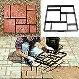 Wisfor Betonform zum selber gießen von Gehweg aus Polypropylen für Garten, Rasen, Pflastersteine,...