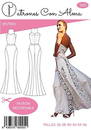 Patron Vestido Fiesta Mujer Mod. Blanco Encaje (42)