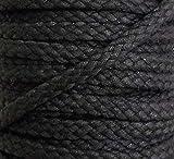 5 m Baumwollkordel 6 mm schwarz 1,40€/m