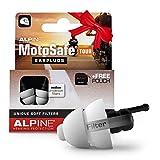 Alpine MotoSafe Tour Tapones para los oídos - Tapones para giras - Evita daños auditivos durante la práctica del motociclismo - El tráfico sigue siendo audible - Tapones reutilizables