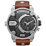Diesel Grey Dial SS Leather Chronograph Quartz Men's Watch DZ7264