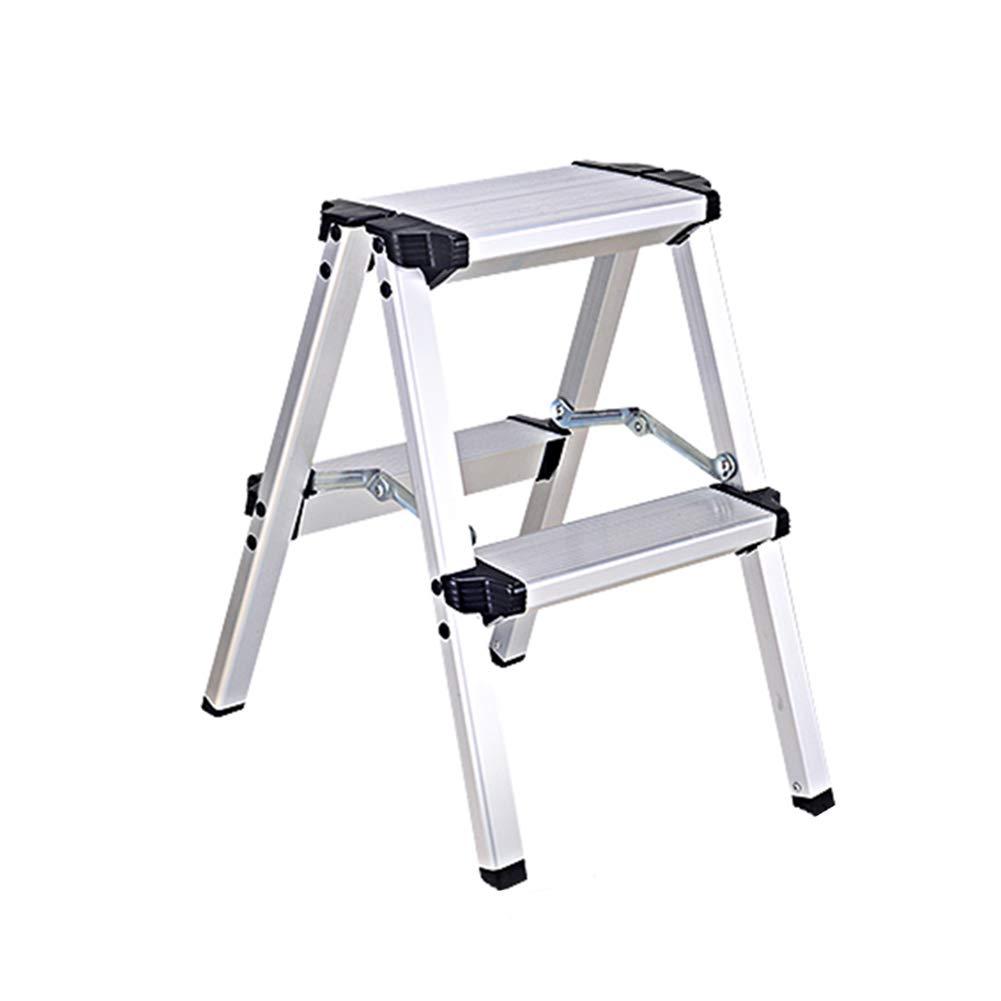 Escalera De Aluminio Escaleras Estables De Construcción Doméstica Almacenamiento Plegable Capacidad De Carga 150 Kg (Size : 2-step ladder): Amazon.es: Bricolaje y herramientas