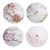 Yalatan Sombrilla de pintura china, paraguas de papel de aceite decorativo clásico para la fiesta de bodas de baile, decoraciones nupciales suministros de exhibición de arte fotográfico