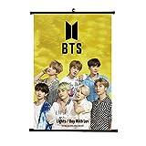 zhongjiany Kpop BTS Poster BTS Bangtan Boys Poster Light Boy with Luv Póster de pared Etiqueta de la pared Pinturas colgantes Etiqueta El mejor regalo para A.R.M.Y(H10)