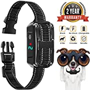 Bark Collar, Rechargeable Bark Control Collar Devices with 5 Adjustable Sensitivity and Intensity Levels-Dual Anti-Barking Modes, No Barking Control Dog shock Collar for Small Medium Large Dog