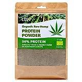 Poudre de protéines de chanvre bio cru de LOOV, 1kg, 50 % de protéines, Nutriments préservés, Délicieuse saveur noisette, Cultivé biologiquement dans les régions nordiques, Poudre végétale, non-OGM