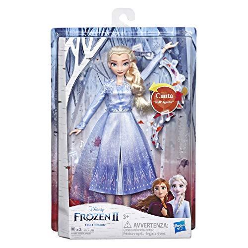 Hasbro Disney Frozen 2 - Elsa Cantante, Bambola Elettronica con Abito Azzurro, Ispirato al Film Frozen 2