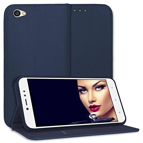 mtb more energy® Schutz-Tasche Bookstyle für Xiaomi Redmi Note 5A (5.5'') - dunkelblau - Kunstleder - Klapp-Cover Hülle Hülle