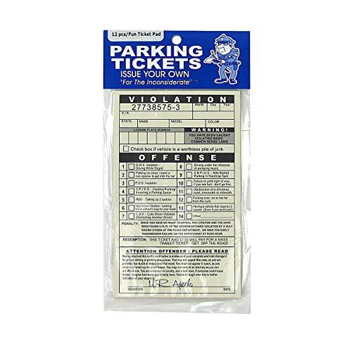 TG,LLC Treasure Gurus Novelty Realistic Fake Parking Tickets Car Violation Prank Practical Joke Gag Gift