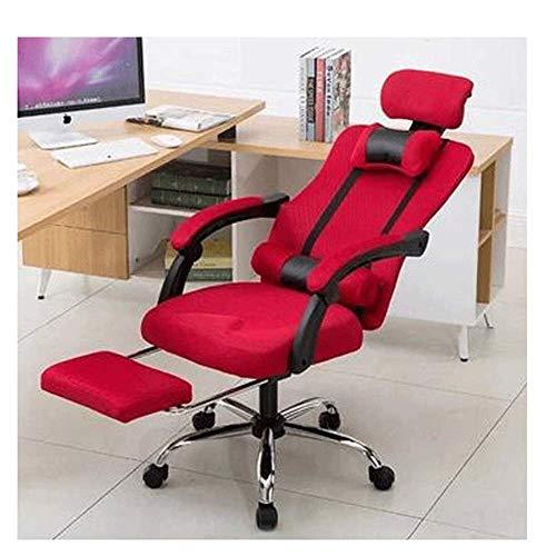 KFDQ Sillas de escritorio, silla ergonómica reclinable de oficina Silla de escritorio con respaldo alto con soporte lumbar Asiento ajustable en altura Reposacabezas Respaldo de malla transpirable Coj