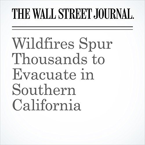 Wildfires Spur Thousands to Evacuate in Southern California copertina