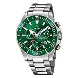 JAGUAR Reloj Modelo J872/2 de la colección Executive, Caja de 46,5 mm Verde con Correa de Acero para Caballero