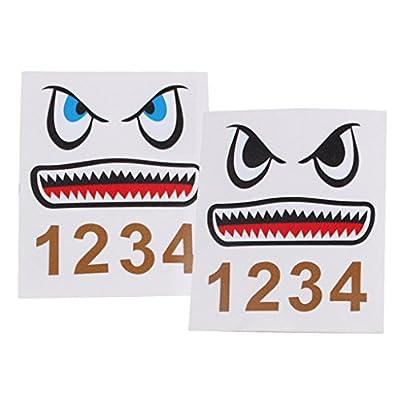 Dolity RC Drone Body Decal Sticker Shark Mouth Tag for DJI Mavic Pro/SPARK/Mavic Air