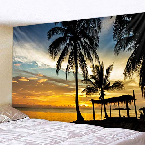 Tapiz de paisaje hermoso bosque natural estampado de gran tamaño para colgar en la pared, colcha de playa, toalla de playa, decoración en casa, viaje o cojín de dormir