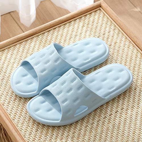 Zecken Männer und Frauen Hausschuhe Badezimmer Slippershick rutschfeste weiche Hausschuhe verschleißfeste Strand Flip Flops Herren Hausschuhe (Color : A, Size : 36-37)