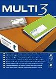 Etiquetas Adhesivas Multi3 Para Inkjet Laser Y Fotocopiadoras Cantos Rectos 100 Hojas 70 X 36mm