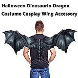 m·kvfa Fantasy Halloween Dinosaurio Dragon Costume Cosplay Animal Wing Accessory for Kids Child Adult (Black)