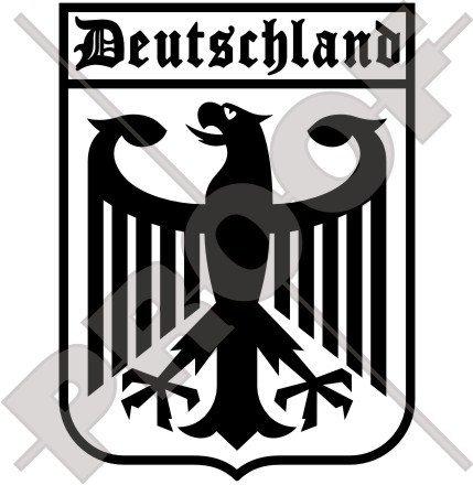 Allemagne aigle allemand, Deutschland 162,6 cm (160 mm) en vinyle Bumper Sticker, autocollant – Choix de 22 couleurs