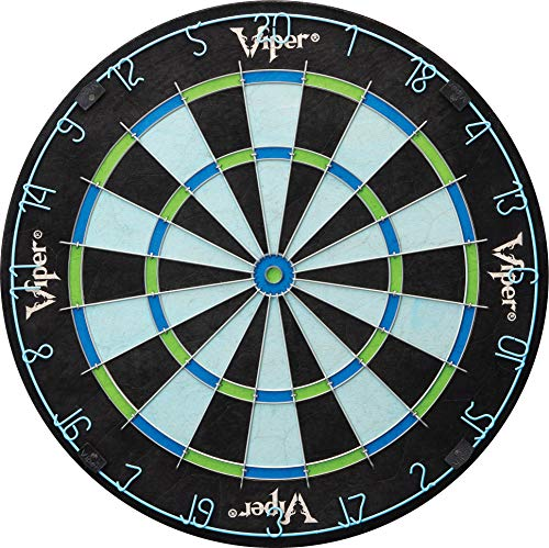 Viper Chroma Tournament Bristle Steel Tip Dartboard Set with StapleFree Bullseye Metal Triangular Spider Wire for Reduced Bounce Outs Increased Scoring HighGrade SelfHealing Premium Sisal Board