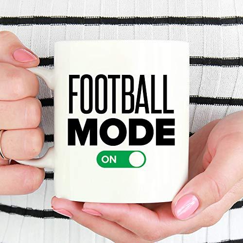 Ol322ay voetbal-modus op grappig voetbal-beker-cadeau voor voetbal-speler-voetbal-koffiekopje voetbal-liefhebbers-cadeau-witte keramische koffiekop-schaal