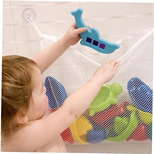 Ruluti Cesta De Malla para Niños Baby Bath Toy Toy Storage Red Plegable Bolsa De Colgante Organizador para Baño