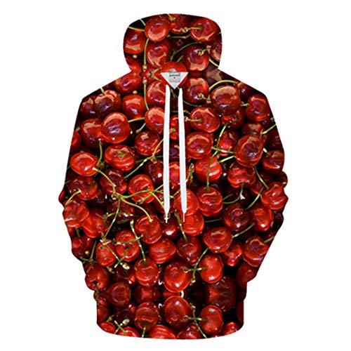 JCNHXD 3D-Druck Hoodie Männer Frauen Hoody Streetwear Sweatshirt Print Trainingsanzug Jacke Pullover Mantel LMS566 L