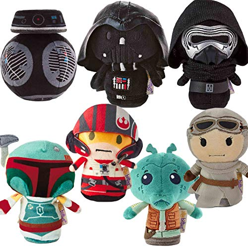 Save With Us Hallmark itty bittys Star Wars Plush Bundle | Set of 7