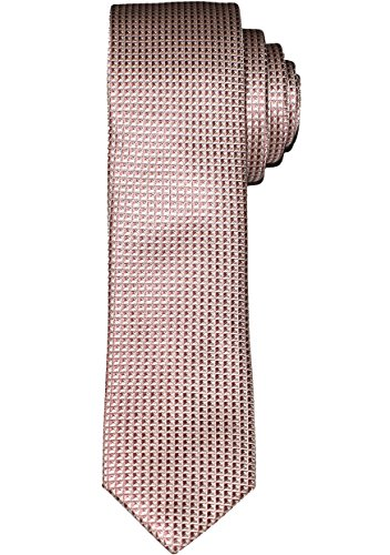 Olymp Krawatte 100% Seide, 6 cm, hellbeige kariert
