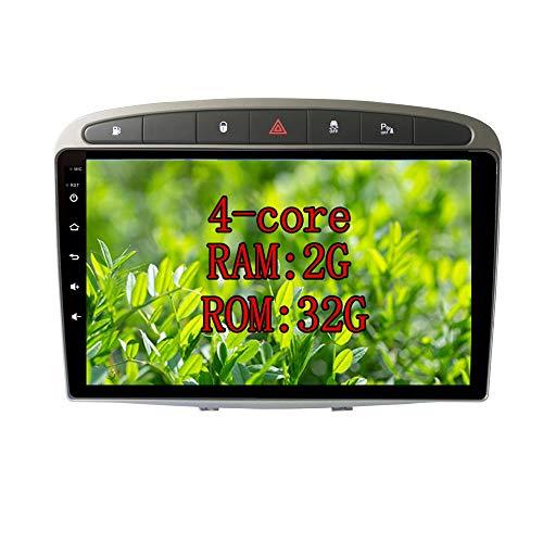 XISEDO 9' In-Dash Android 10.0 Autoradio Radio de Coche 2G RAM 32G ROM Car Radio Estéreo de Automóvil para Peugeot 308 2007-2013 Peugeot RCZ