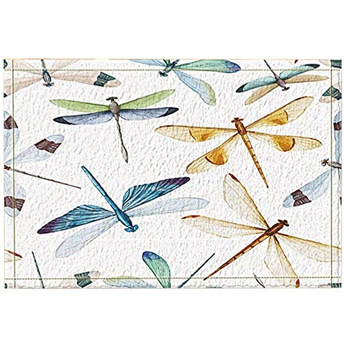 Sesily Aquarel Libelle Decoratie, aquarel Bug Vlinder Badkamertapijt, antislip deurmat