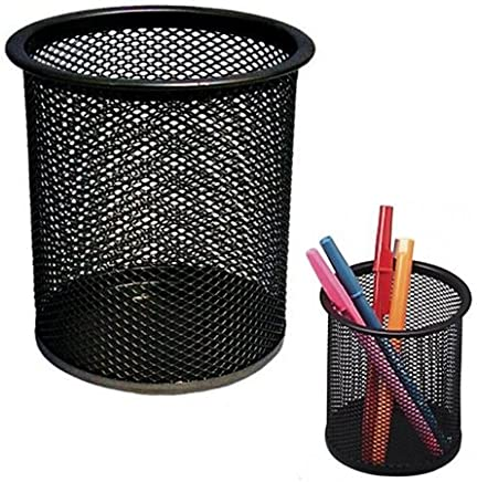 TOOGOO(R) Steel Mesh Pencil Cup-black