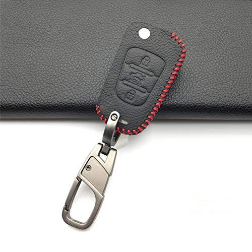 TMAAORS Funda de cuero con 3 botones para llave, funda para llave de coche, para Kia Sportage Sorento RIO K2 K5 para Hyundai i20 i30 i35 iX20 iX35 Solaris Verna