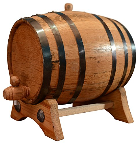 Sofia's Findings 10-Liter American White Oak Aging Barrel | Age Your own Tequila, Whiskey, Rum, Bourbon, Wine
