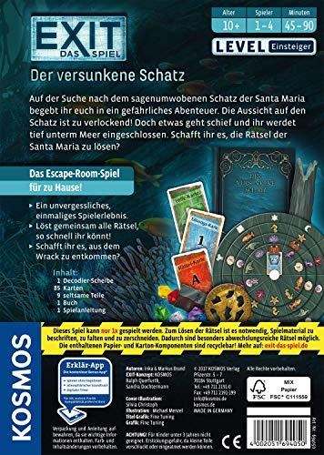 """KOSMOS Spiele 694050 -"""" EXIT – Spiel: versunkene Schatz"""" Brettspiel - 2"""