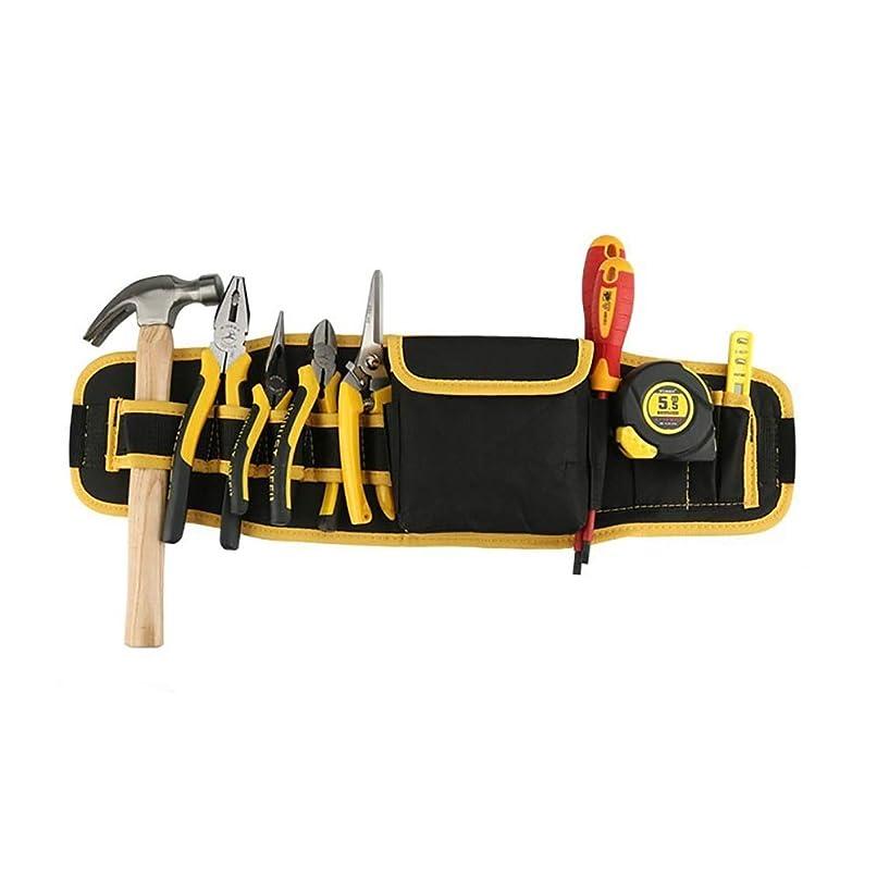 サーキットに行く促すただやるツールベルト 8つのポケット1収納袋ツールエプロンツールオーガナイザーバッグブルーレッドイエロー付き多機能防水オックスフォード布ツールベルト 大工のエプロン (Color : Yellow, Size : 56x16cm)