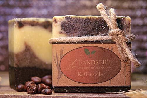Landseife Bio Kaffeeseife - Handgefertigte & pflegende Bio Küchenseife Naturseife gegen Gerüche